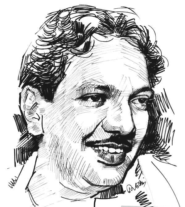 Karunanidhi Line art