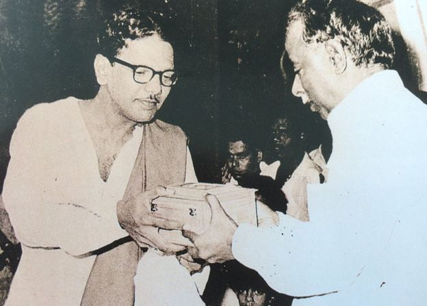 Karunanidhi with Annaduarai