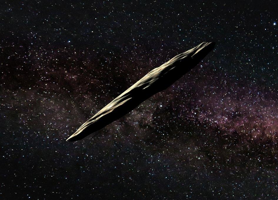 cigar shaped asteroid NASA