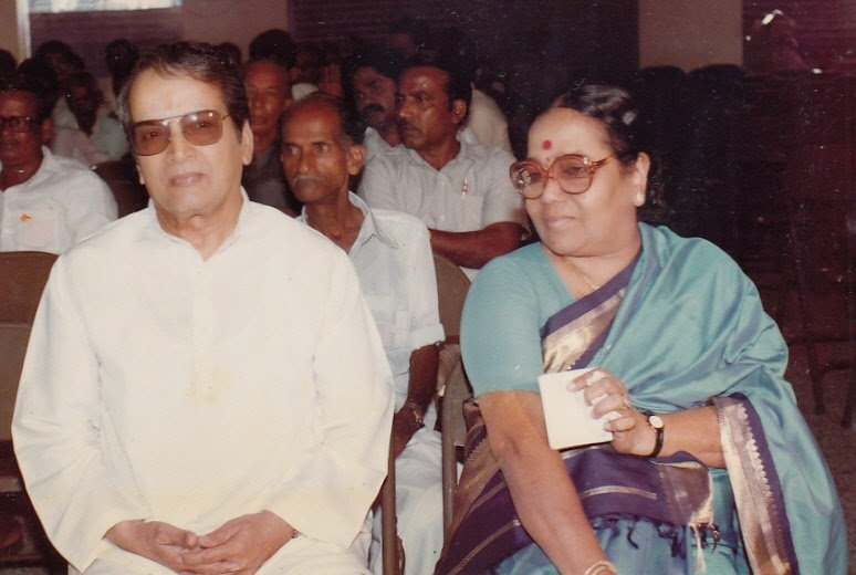 M N Nambiar and his wife