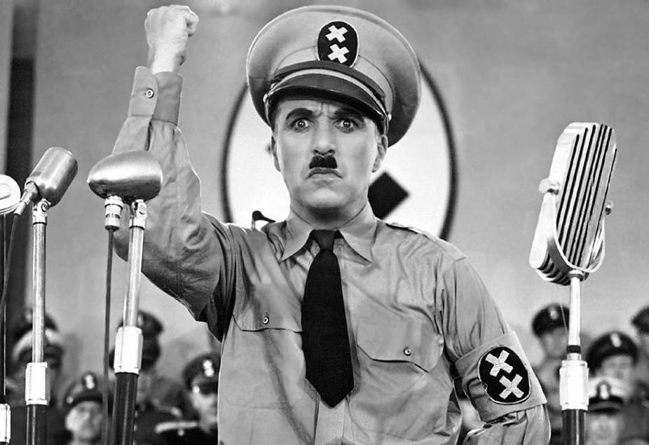 charlie chaplin - The great dictator.