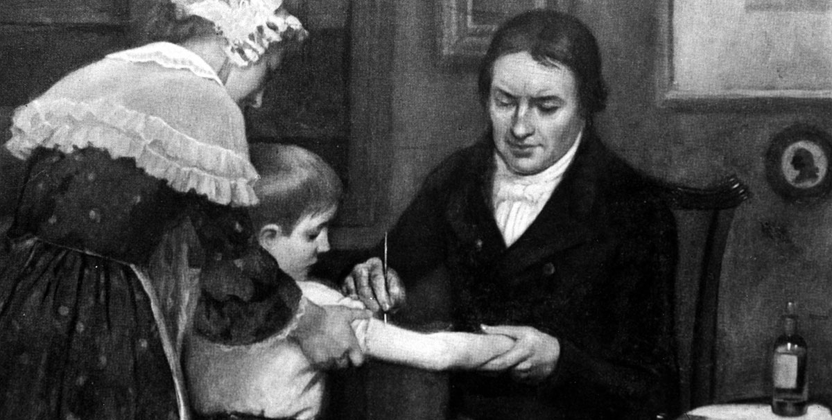 Edward Jenner performs his vaccination