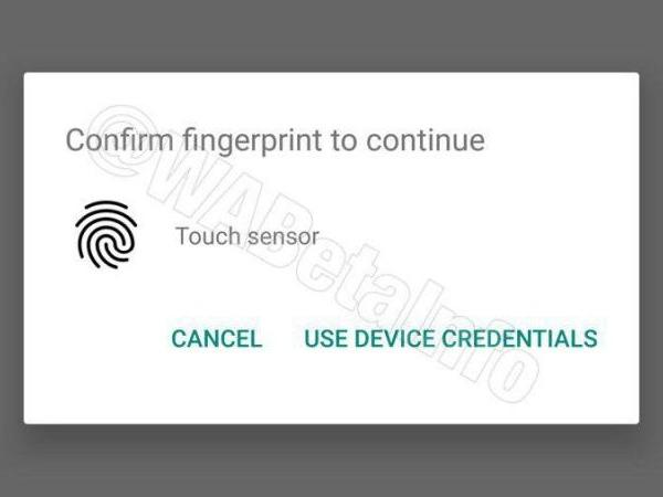 WhatsApp_fingerprint_authentication
